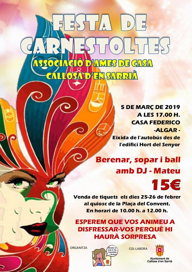 Carnaval Amas de casa Callosa 2019