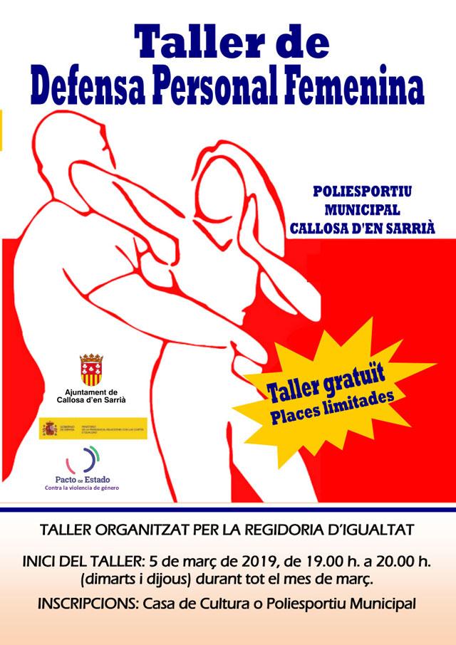 TALLER DE DEFENSA PERSONAL Callosa 2019