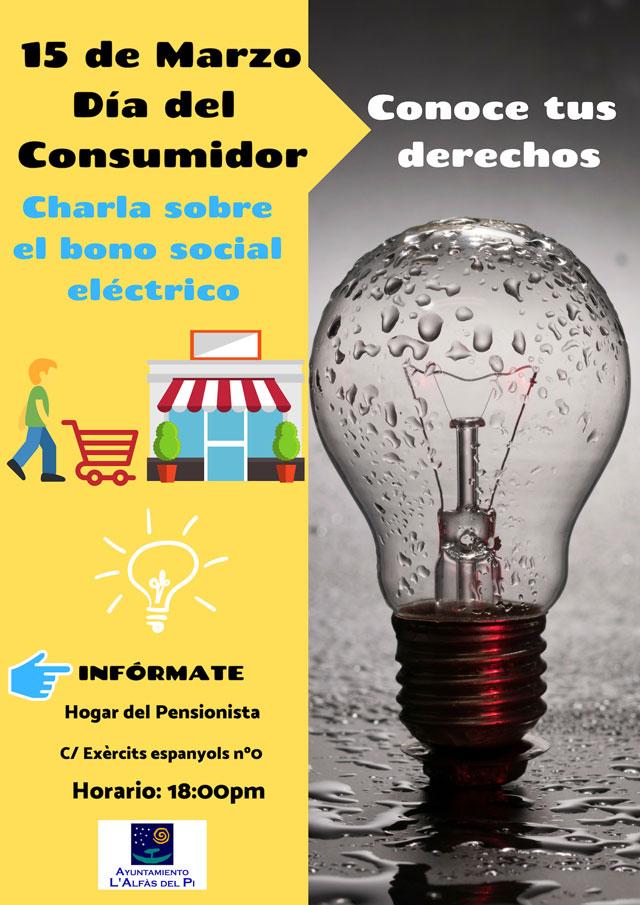 Charla bono social electrico Dia del consumidor Alfas 2019