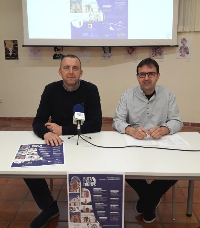 Diego Zaragozí, concejal de Cultura, y Juan Tomás Laviós, director de la iniciativa, durante la presentación