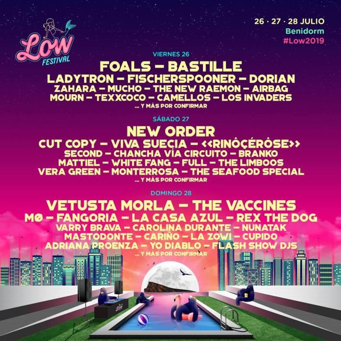 low festival benidorm 2019 cartel por dias