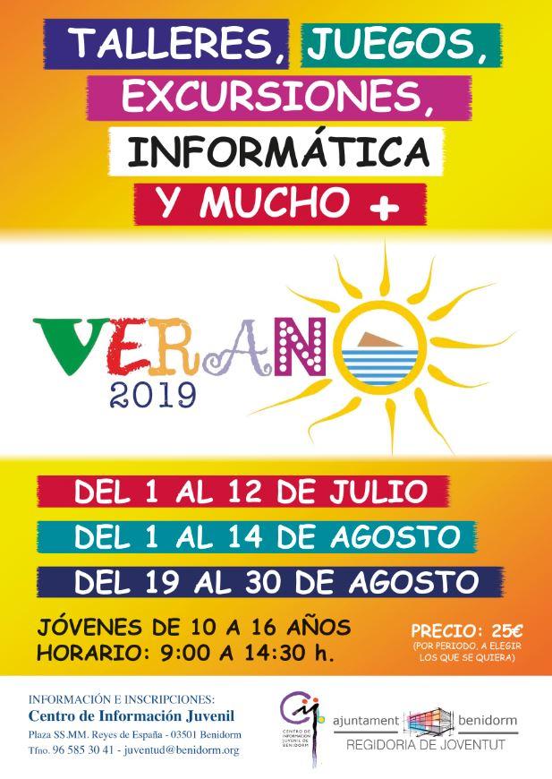 Benidorm cursos verano 2019