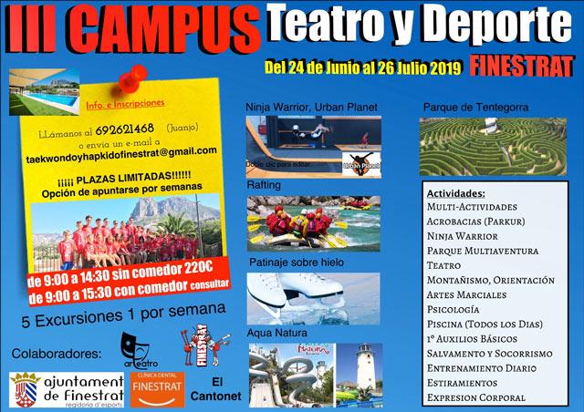 CAMPUS TEATRO DEPORTE FINESTRAT 2019