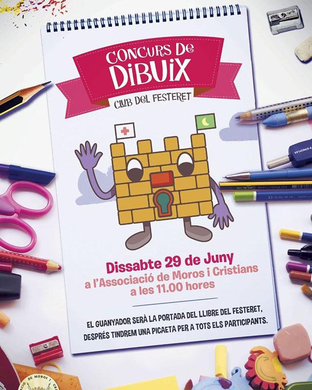El próximo 29 de junio se celebra el Concurso de Dibujo del Club del Festeret