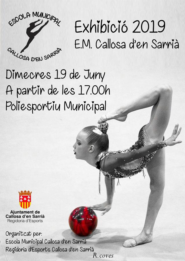 Exhibición fin de curso de la Escuela Municipal de Gimnasia Rítmica de Callosa