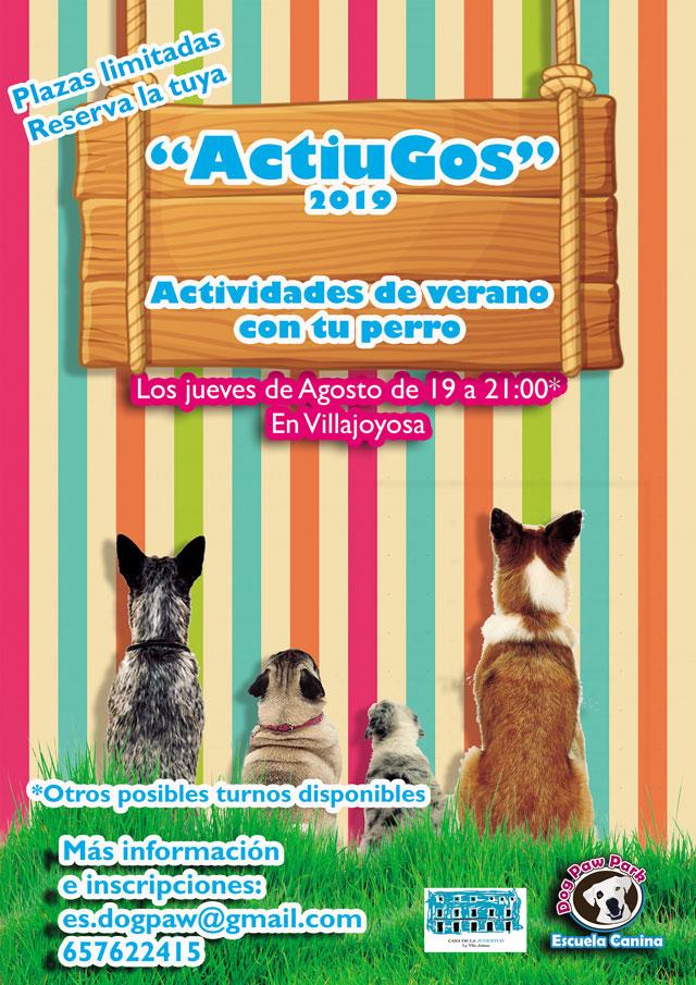 ActiuGos La Vila Joiosa actividades verano dogpaw 2019