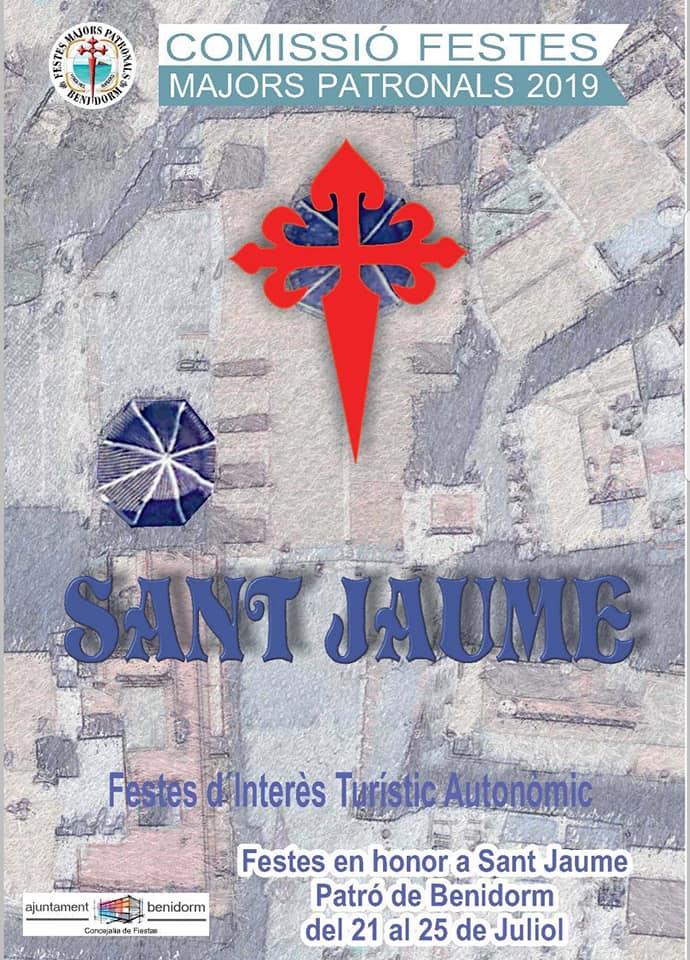 Fiestas San Jaime Sant Jaume Benidorm 2019 cartel