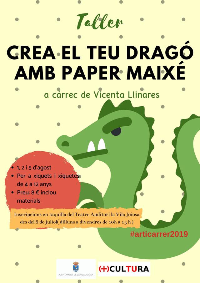 Taller crea tu dragon de papel mache La Vila Joiosa 2019