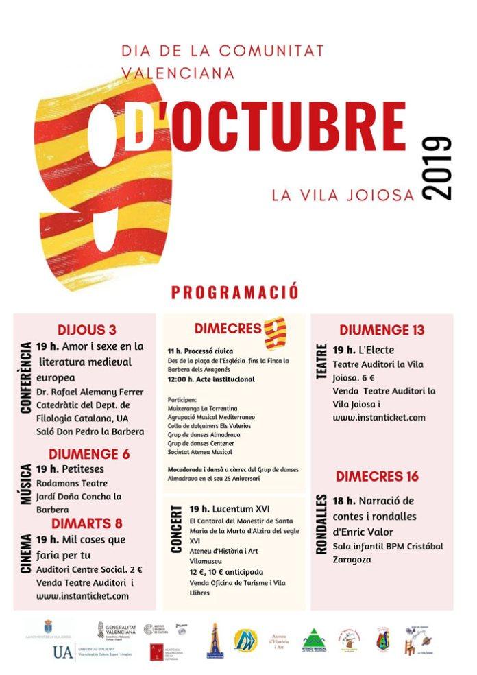 Villajoyosa celebra el 9 d'octubre