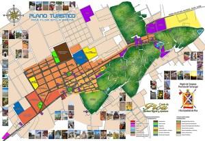 mapa turistico del pueblo de Pica