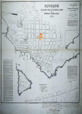 mapa antiguo de Iquique