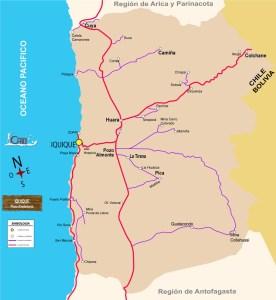 Mapa de la Region de Tarapacá