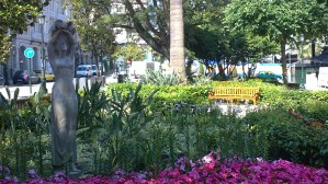 La alameda. Plaza de Compostela