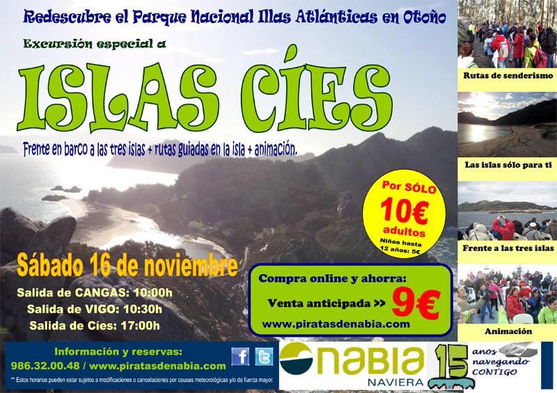 Excursión especial a las Islas Cíes de otoño