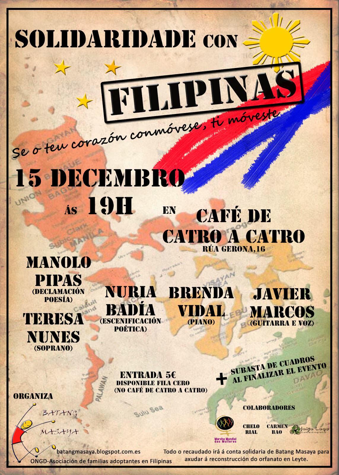 Acto solidario a favor de Filipinas