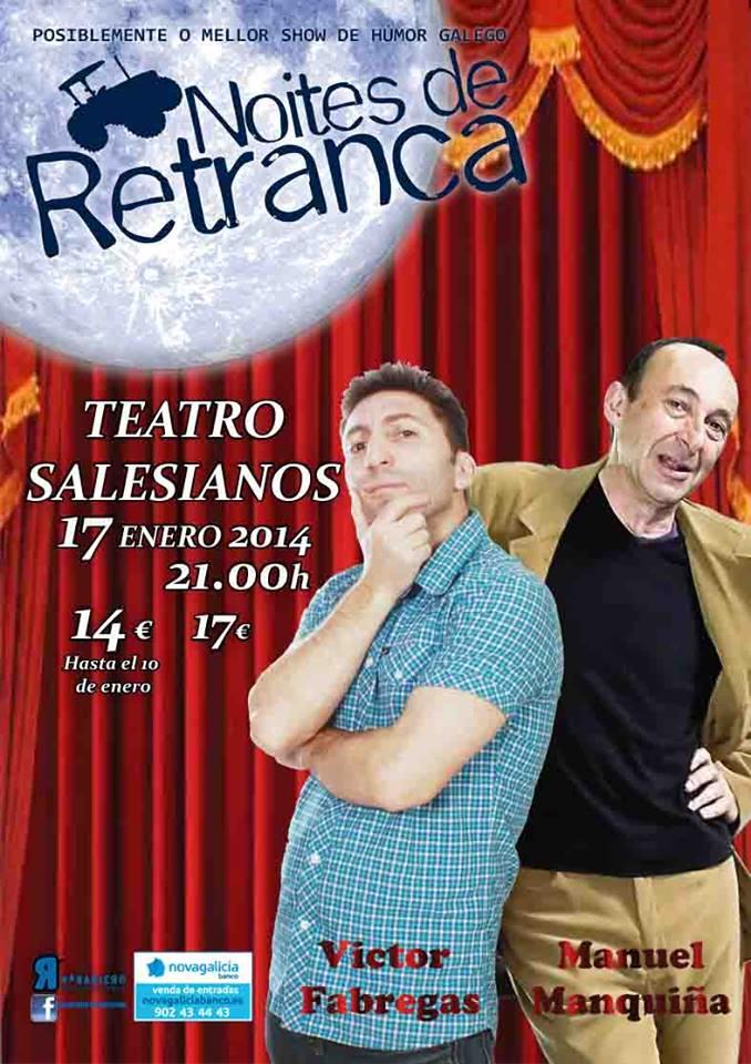 Manquiña e Victor Fábregas en Noites de Retranca