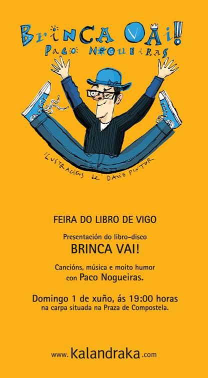Concerto de BRINCA VAI! este domingo na Feira do Libro de Vigo