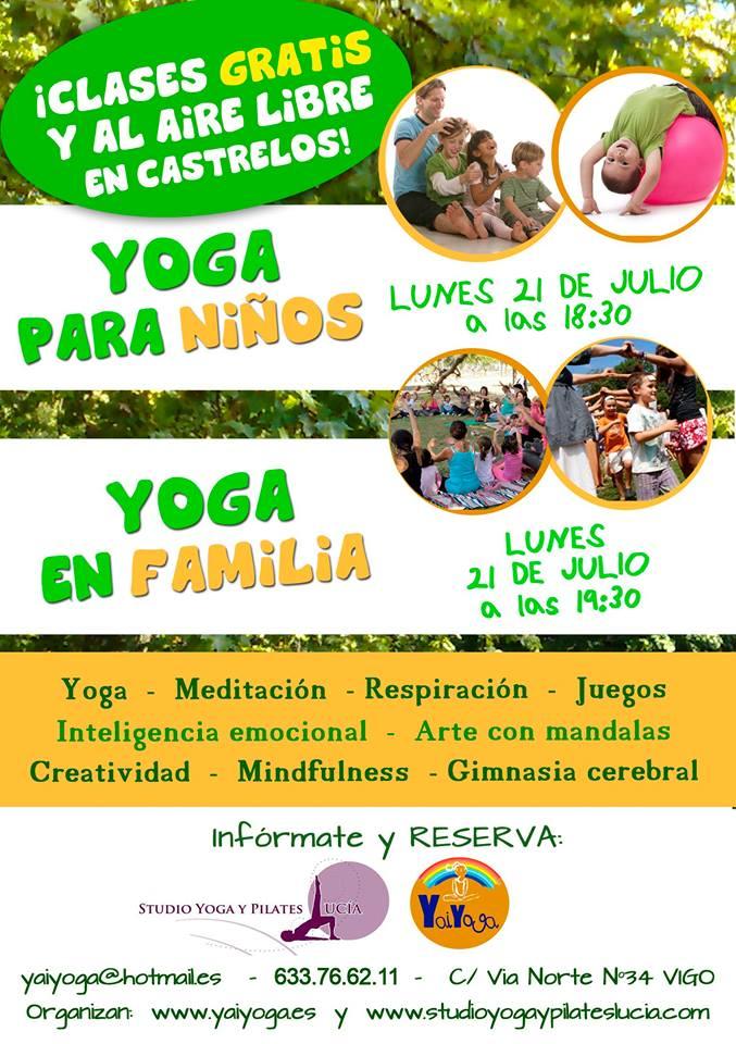 Yoga al aire libre y gratis en el parque de Castrelos