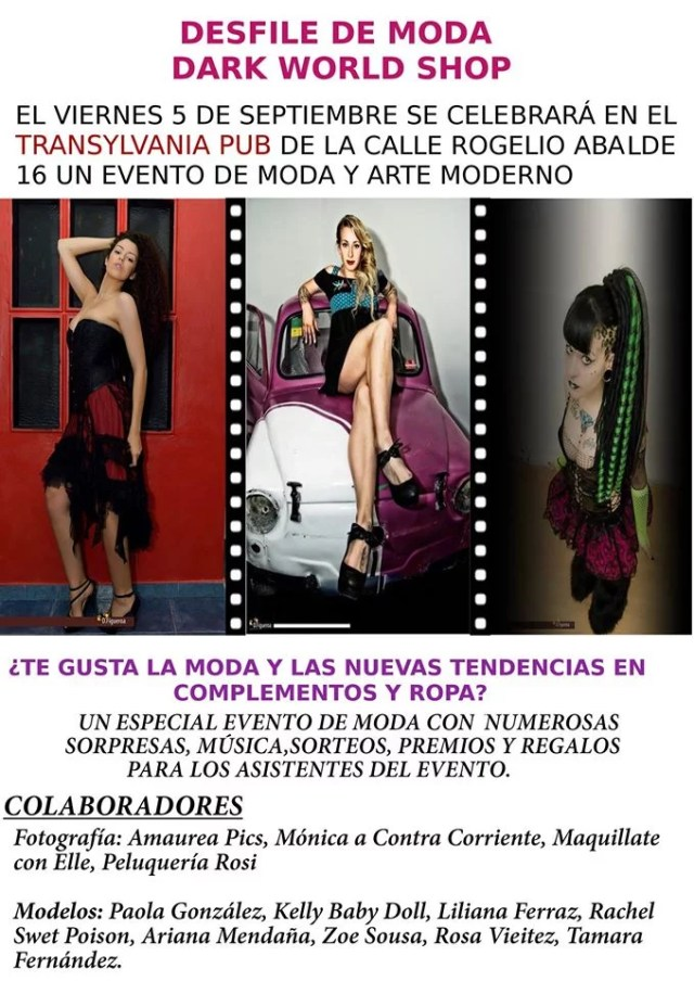 Desfile de moda con Dark World Shop