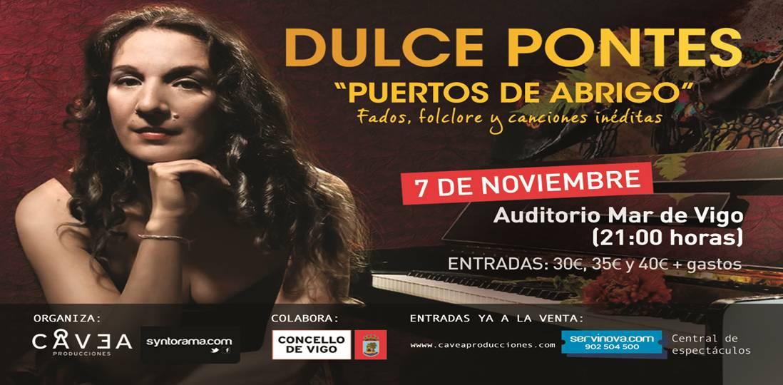 Dulce Pontes, fados en el Mar de Vigo