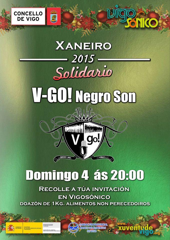 Concerto Solidario VigoSónico do Coro V-GO Negro Son