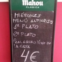 menú low cost