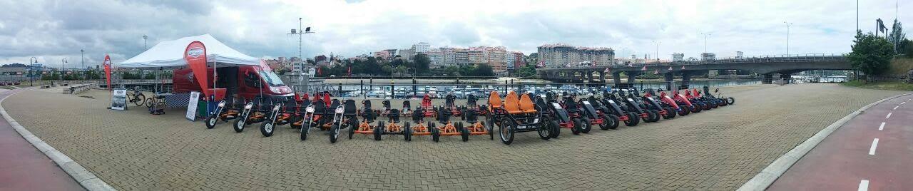 Karts a pedales, para toda la familia!