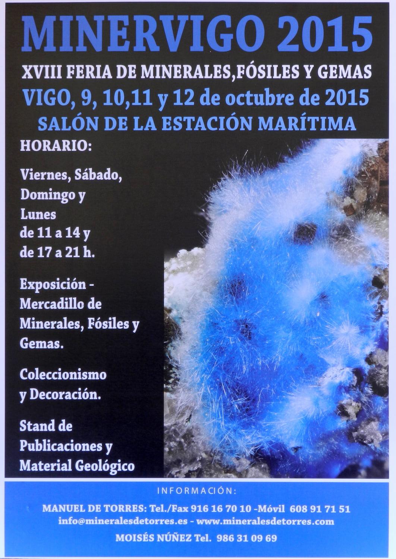 Minervigo 2015, Feria de minerales y fósiles