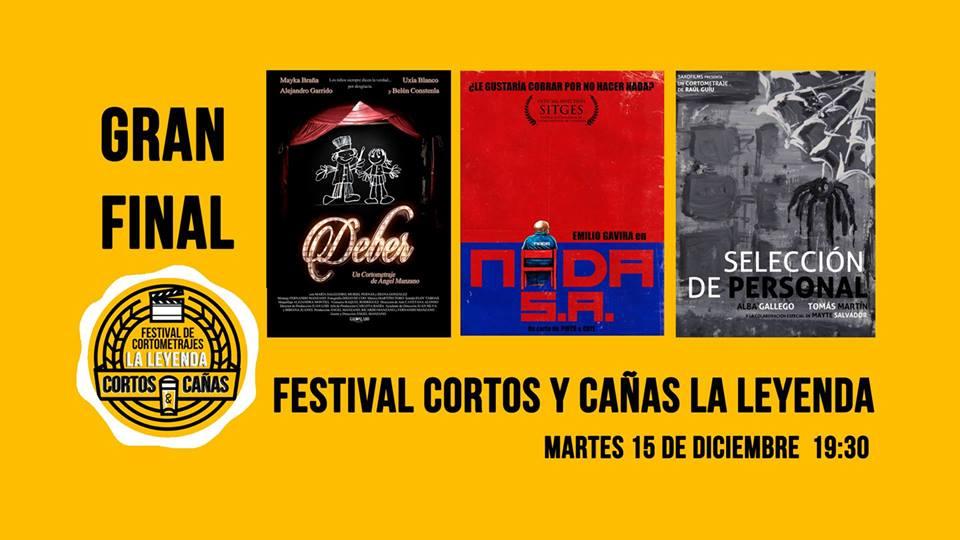 Final del Festival de Cortos y Cañas de La Leyenda