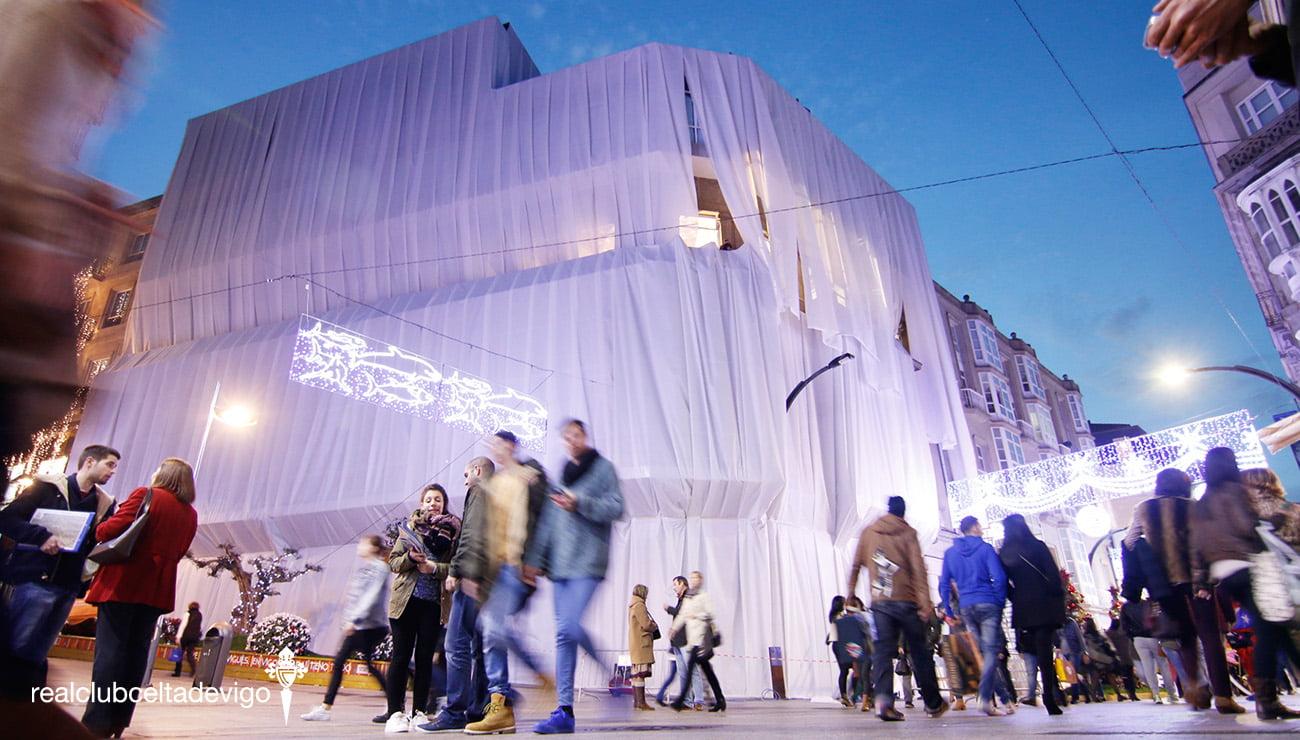 El Celta celebra la Navidad en su nueva sede