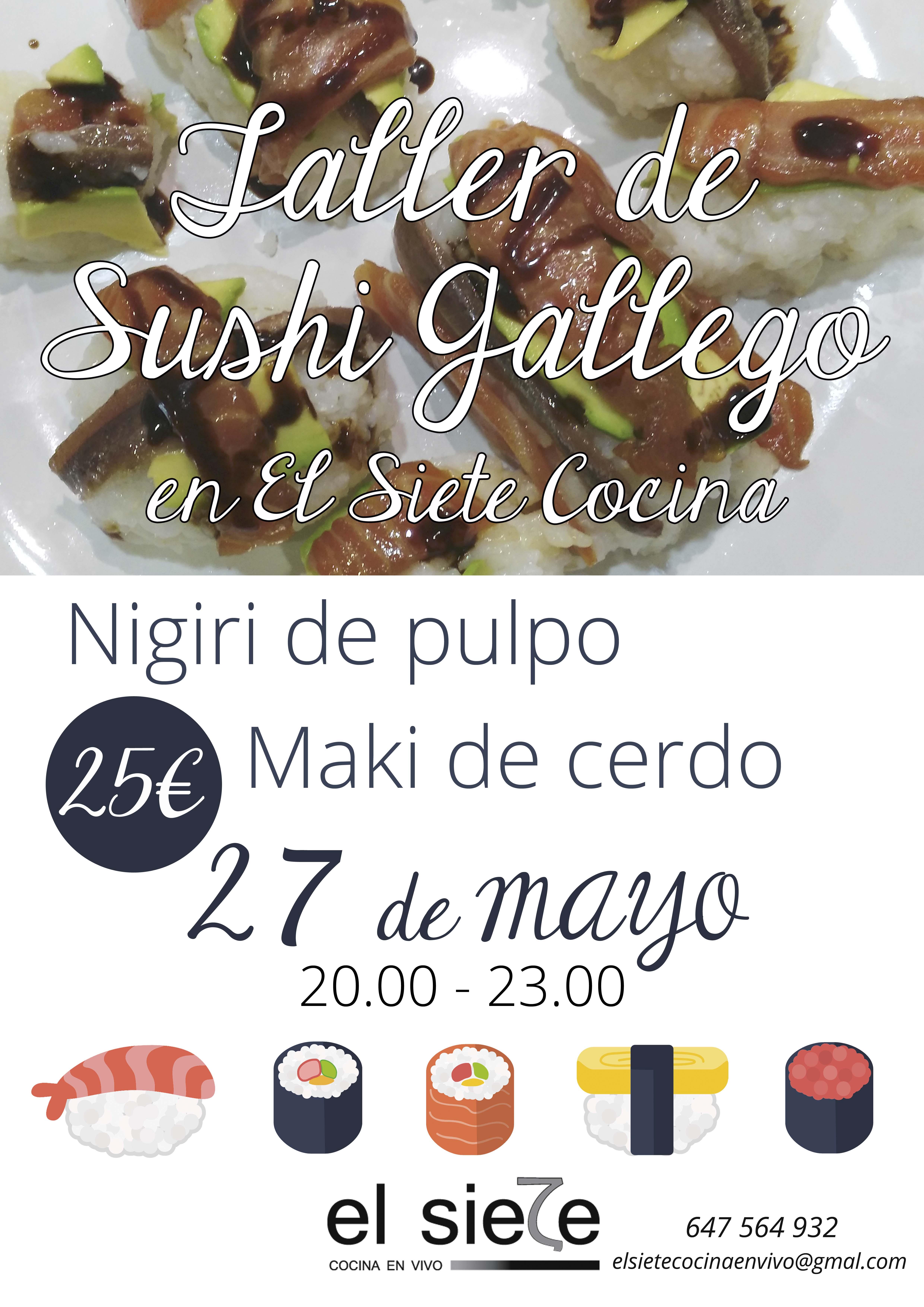 Taller de sushi gallego