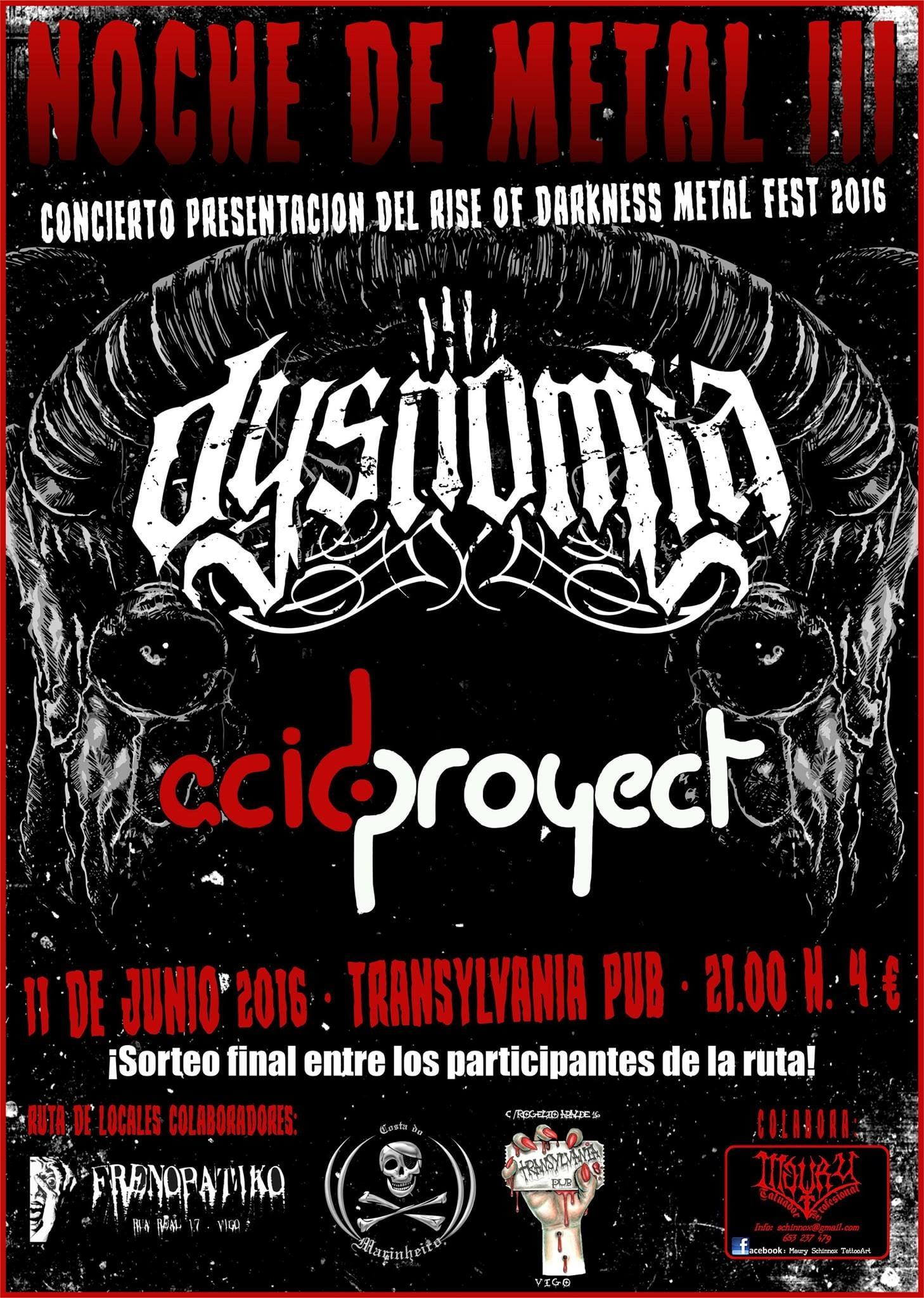 Noche de Metal 3.0 + Presentación Rise Of Darkness Metal Fest