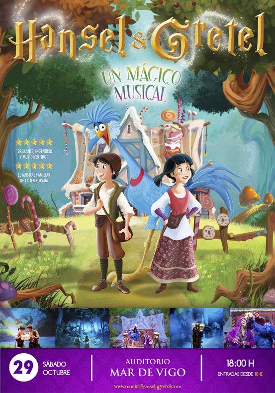 Hansel y Gretel, un mágico musical llega a Vigo