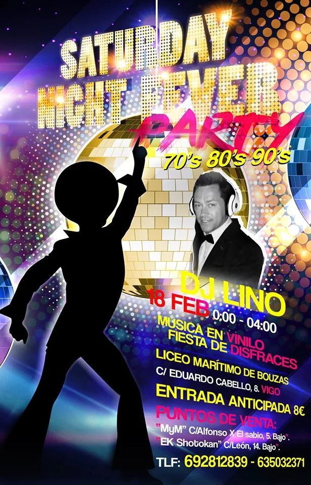 Fiesta temática Saturday Night Fever