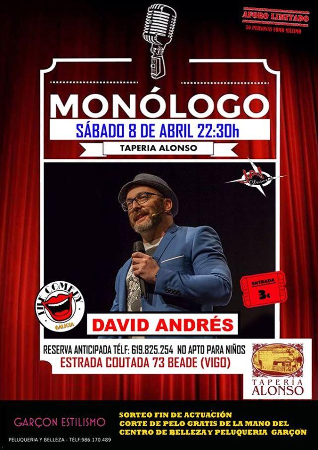 Cena Monólogo con David Andrés
