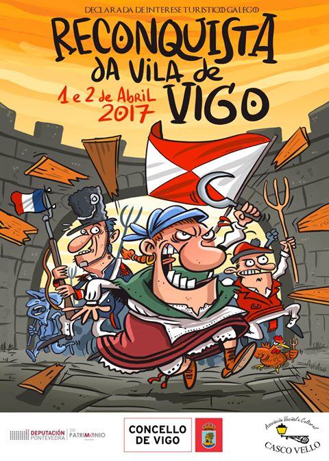 Resultado de imagen de cartel fiesta reconquista vigo 2017