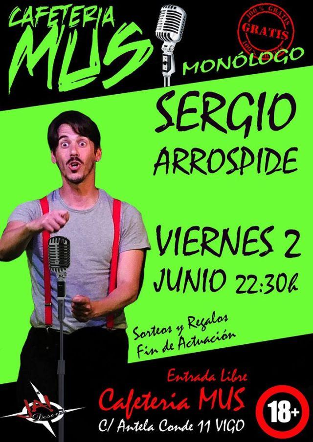 Sergio Arrospide en Vigo.