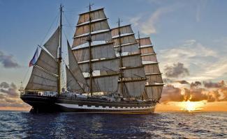 """Visita del velero Ruso """"Kruzenshtern"""" al puerto de Vigo"""