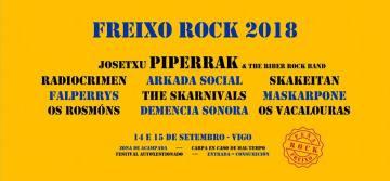 Freixo Rock 2018, 14 e 15 de Setembro