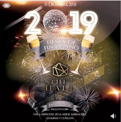 Fiesta Año Nuevo 2019 en The Hall