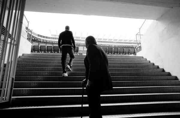 Fotografía de Zidane de Philippe Bordas en Institut Français