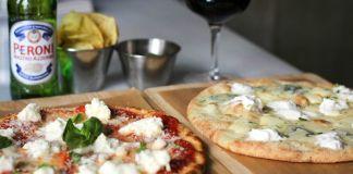 Pizza Cuatro quesos y Margarita en Fortino Pizza Bar e Cucina