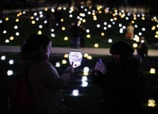 Fiesta de la luz en Madrid Río