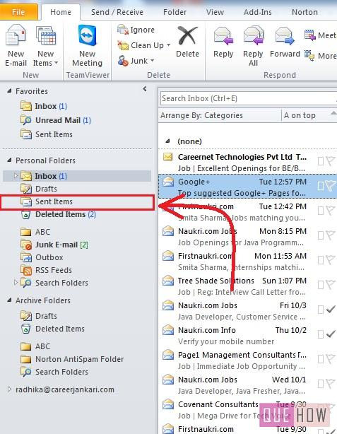 How to Recall an Email in Outlook 2010: 9 Steps (with images) - QueHow