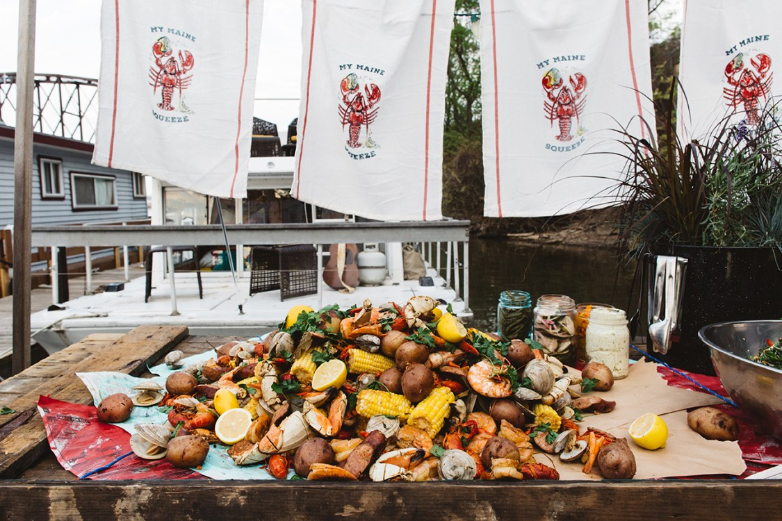 """My Maine Squeeze"" Seafood Boil Gathering by Quelcy // www.Quelcy.com"