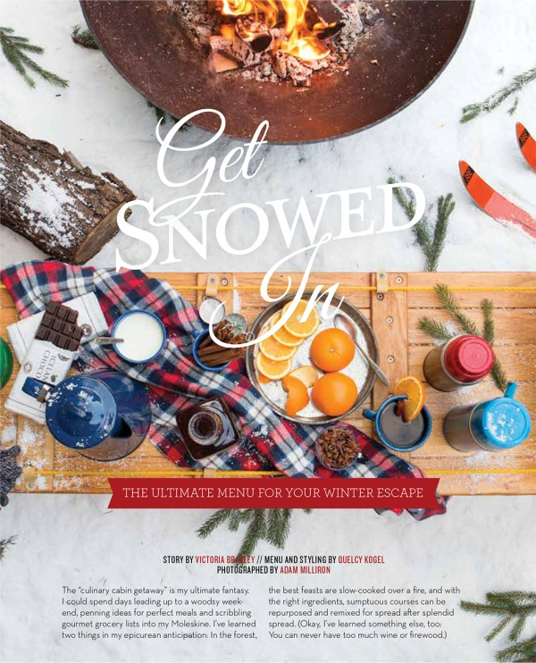 """Get Snowed In"" Styling & Menu Planning for @TABLEMagazine // www.Quelcy.com"