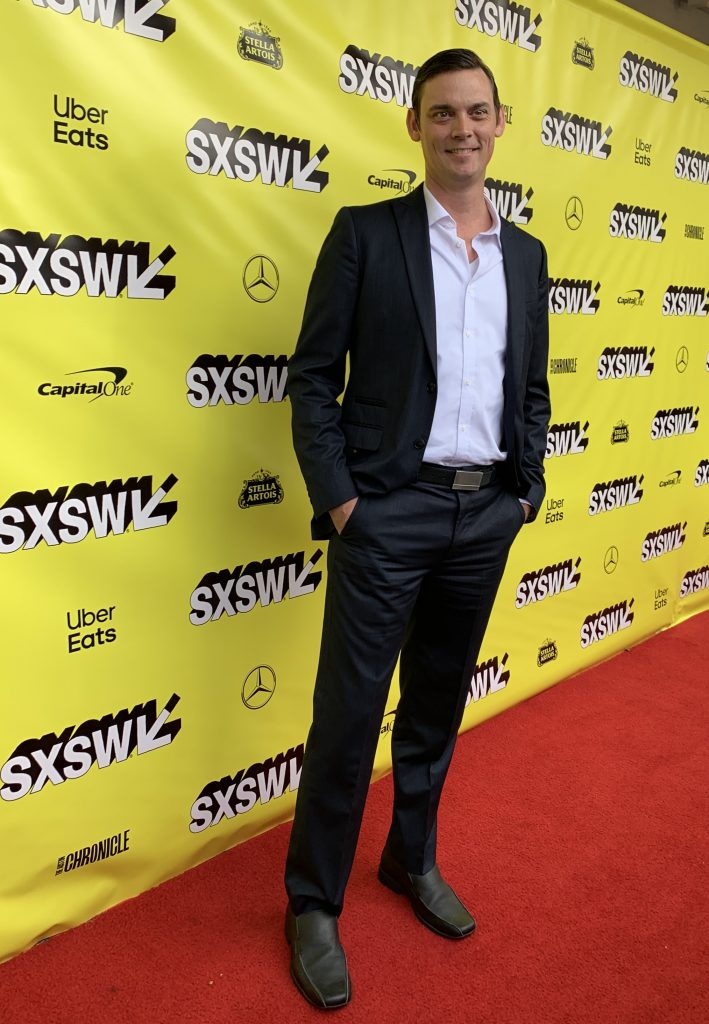 Joshua Ritter at the SXSW red carpet premiere of The Beach Bum.