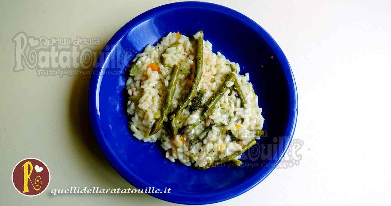risotto con asparagi e zucchine