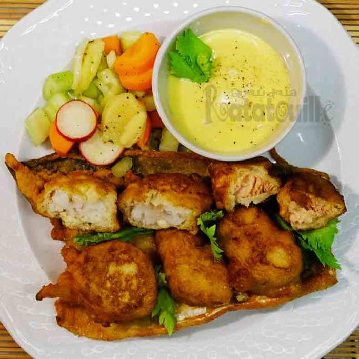 frittelle di baccalà e salmone
