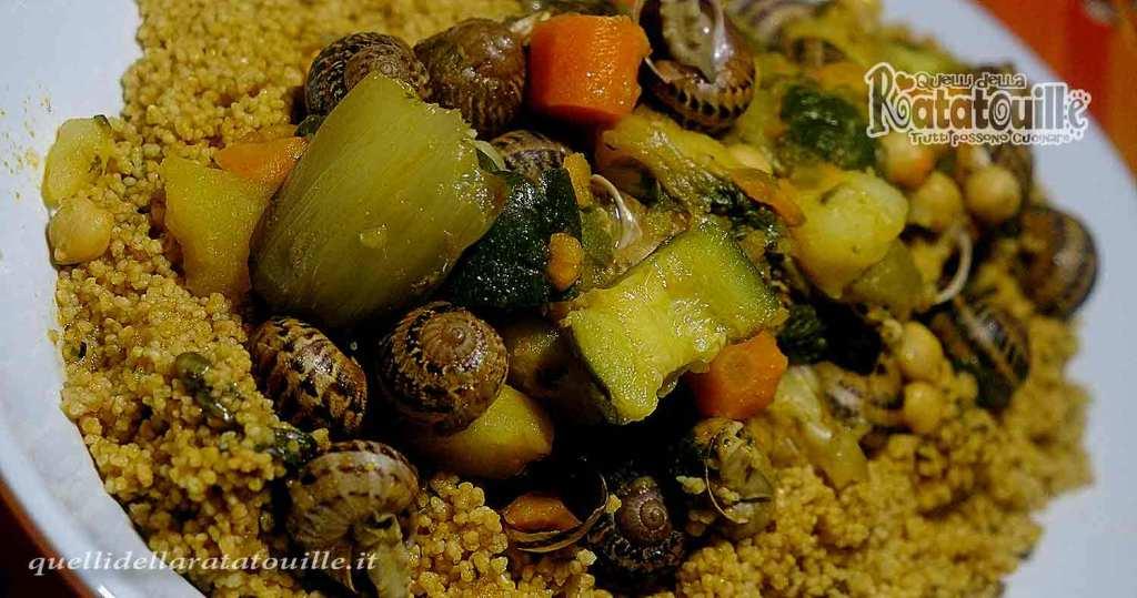 Cous cous con lumache e verdure